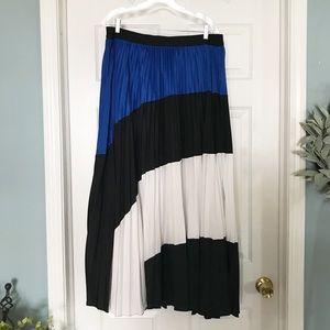 Lane Bryant pleated colorblock maxi skirt  18/20